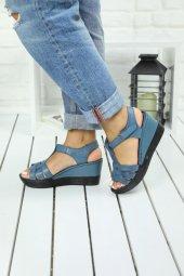 Amarus Mavi Hakiki Deri Bayan Ayakkabısı