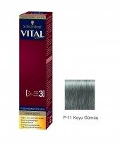 Vital Tüp Saç Boyası P11 Koyu Gümüş