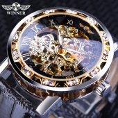 Winner Yeni Tasarım Diamond Erkek Kol Saati Kurmalı Mekanik Saat