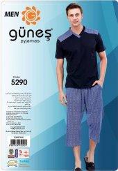 Güneş 5290 Kısa Kol Erkek Kapri Pijama Takımı