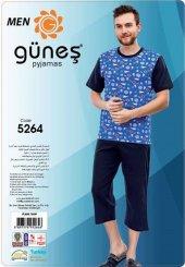 Güneş 5264 Kısa Kol Erkek Kapri Pijama Takımı