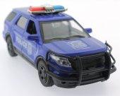 çek Bırak Mavi Metal Polis Aracı Sl6600 1b