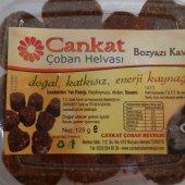 Cankat Coban Helvası & Bozyazı Kavutu 125 Gr Plastik Paket (Keciboynuzlu, Şekersiz, Glutensiz, Doğal, Yer Fıstığı Helvası)