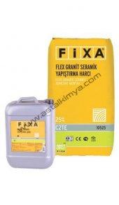 Fixa Flex Granit Seramik Yapıştırma Harcı Çift Bileşenli+31 Kg (25 Kg+ 6 Kg) Set