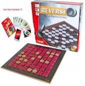 Ahşap Reverse Reversi Zeka Ve Strateji Oyunu+ Uno Card Oyunu