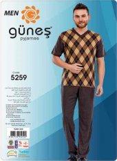 Güneş 5259 Kısa Kol Erkek Pijama Takımı