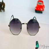 Sekizgen Şık Siyah Gözlük