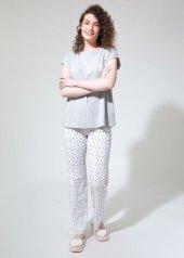 Dagi Kadın Pijama Takımı Gri Melanj B0219y0102grm