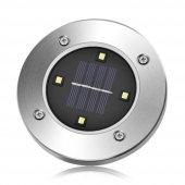 Güneş Enerjili Su Geçirmez 4 Ledli Saplamalı Bahçe Lambası