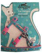 Doggie Kitty Kedi Göğüs Tasması 22 36 Cm Pembe