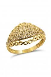Cigold 14 Ayar Altın Taşlı Yüzük Yz0205050004
