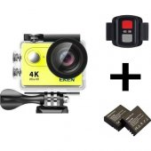 Eken H9r 4k Ultra Hd Wifi Aksiyon Kamera + Yedek Batarya Sarı