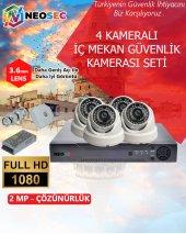 4 Kameralı (İç Mekan) Güvenlik Kamerası Seti Hd (1080p)