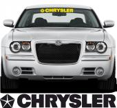 Chrysler Ön Cam Oto Sticker