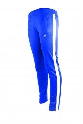 Kadın Mavi Sporcu Eşofman Altı Beyaz Şerit