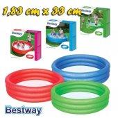 Bestway 3 Halkalı Plastik Renkli Şişme Bebek Havuzu 183 X 33cm