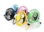 Usb Fan Usb Vantilatör Usb Mini Fan Masaüstü Taşınabilir Metal