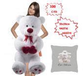 özgüner 100 Cm Bobo Beyaz Özür Dilerim Kuzu Yastık Hediyeli