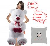 özgüner 100 Cm Bobo Beyaz Tebrikler Köpek Yastık Hediyeli