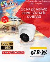2.0 Mp (İç Mekan) Dome Güvenlik Kamerası (1080p Hd)