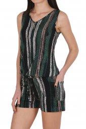 Kadın Tunik Ev Elbisesi Geniş Askılı Kombinezon