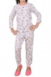 Kız Çocuk Pijama Takımı Uzun Kollu Pamuk