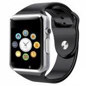 Olix A1 Smart Watch Akıllı Saat Sim Kartlı Kameralı Ime Kayıtlı Gümüş