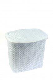 örgü Desenli Beyaz Rengi Plastik Deterjan Kutusu 1...