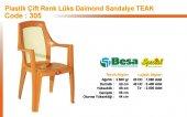305 Besa Teak Lüks Daimond Plastik Sandalye