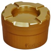 Foxipo Alüminyum Döner Kül Tablası Altın Rengi Köşeli Model