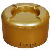Foxipo Alüminyum Döner Kül Tablası Altın Rengi Yuvarlak Model