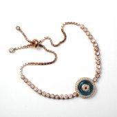 925 Ayar Gümüş Rose Gold Tasarım Bayan Bileklik