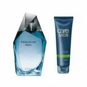 2 Li Set Avon Perceive Soul 100 Ml Edt Erkek Parfüm Yeni Ve Tıras Jeli