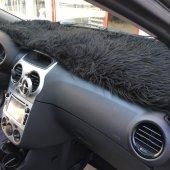 Siyah Tüylü Torpido Pandizot Üstü Peluş Halı...