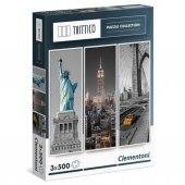 Clementoni 3x500 Parça Puzzle Trittico New York 39...