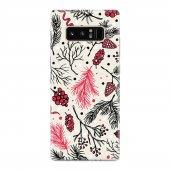 Samsung Galaxy Note 8 Kılıf Silikon Arka Koruma Kapak Dallar Dese