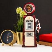 Dekoratif Benzin Pompası Tasarımlı Müzik Kutusu Bordo