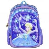 Frozen Elsa Kabartmalı Simli İlkokul Sırt Çantası Hkn95235