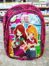 Kız Çocuk Okul Çantası Kabartmalı Sue And Se Sırt Çantası