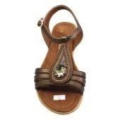 De Scario Tek Taşlı Sandalet