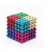 Karışık Renkli 8 Renk Manyetik Toplar Neodyum Mıknatıs Bilye 216