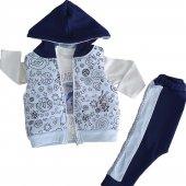 Erkek Bebek Şişme Yelekli Kapşonlu 6 18 Ay Eşofman Takımı C71878