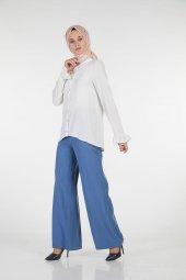 Sitare Tensel Geniş Paça Pantolon 19y5041