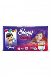 Sleepy Sensitive Bebek Bezi 4 Numara Maxi Ped Hediyeli 30 Adet