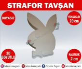 Strafor Sepeti Strafor Tavşan 20 Cm Boyasız, Strafor Dekor, Strafor Parti, Strafor Doğum Günü