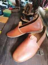 Deri Taba Rengi Erkek Yemeni Ayakkabı