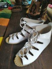 Deri Kadın Yemeni Sandalet