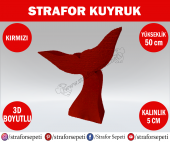 Strafor Sepeti Strafor Kuyruk 50 Cm Kırmızı Strafor Dekor, Strafor Parti, Strafor Doğum Günü