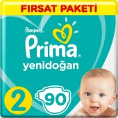 Prima Bebek Bezi Fırsat Paketi 2 Beden 4 8 Kg 90 Adet