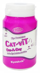 Biyoteknik Catvit One A Day Kediler İçin Multivitamin Tablet 60 A
